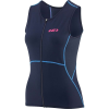 Louis Garneau Women's Tri Comp Sleeveless Top - Small - Navy / Blue / Pink