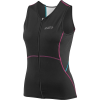 Louis Garneau Women's Tri Comp Sleeveless Top - XL - Black / Purple / Green