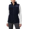 Columbia Women's Winter Pass Fleece Vest - Small - Dark Nocturnal / Dark Nocturnal Dot Print