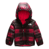 The North Face Infant Reversible Perrito Jacket - 3M - TNF Red Mini Buff Check Print