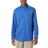 Columbia Men's Low Drag Offshore LS Shirt - Large - Vivid Blue