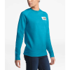 The North Face Women's Heritage Crew - Medium - Barrier Reef Blue Heather