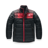 The North Face Boys' Reversible Mount Chimborazo Jacket - Large - TNF Red Buff Check Print