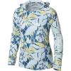 Columbia Women's Super Tidal Tee Hoodie - Medium - Impulse Blue Dotty Palms Print