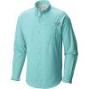 Columbia Men's Tamiami II Slim Fit LS Shirt - XXL - Gulf Stream