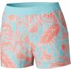 Columbia Women's Tidal 5 Inch Short - Large - Coastal Blue Dotty Palms Print