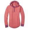Smartwool Women's Shadow Pine Hoodie Sweater - Large - Sangria / Habanero Marl