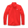 The North Face Women's TKA Glacier Snap-Neck Pullover - XS - Fiery Red / Fiery Red