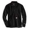 Carhartt Men's Force Extremes Mock Neck Half-Zip Sweatshirt - Large - Black