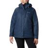 Columbia Women's Whirlibird IV Interchange Jacket - 2X - Dark Nocturnal Sparkler Print / Fathom Blue