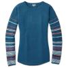 Smartwool Women's Shadow Pine Crew Sweater - Medium - Deep Marlin Heather