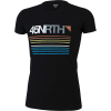 45NRTH Men's Team Stripe Merino T-Shirt - Large - Black