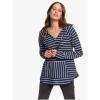 Roxy Women's Long Night Stripes Hooded Top - Large - Snow White Basic Stripes