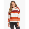Roxy Women's Trip for Two Stripe Sweater - Medium - Canyon Clay