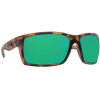 Costa Del Mar Men's Reefton Polarized Sunglasses - One Size - Retro Tortoise/Green W580