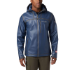 Columbia Men's Titanium OutDry Ex Stretch Hooded Shell Jacket - Large - Collegiate Navy Ripstop Print
