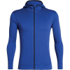 Icebreaker Men's Elemental LS Zip Hood - Medium - Surf