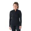 Smartwool Women's Intraknit Merino 250 Thermal 1/4 Zip - Medium - Black