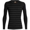 Icebreaker Men's 200 Oasis LS Crewe Top - Medium - Black Stripe
