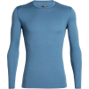 Icebreaker Men's 200 Oasis LS Crewe Top - Medium - Thunder