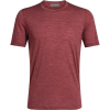 Icebreaker Men's Sphere SS Crewe - Medium - Cabernet Heather
