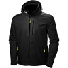 Helly Hansen Men's Crew Hooded Midlayer Jacket - Large - Black