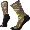 Smartwool Hike Light Hut Trip Printed Crew Sock - Large - Charcoal