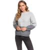 Roxy Women's Polaroid Girl Sweater - Large - Heritage Heather