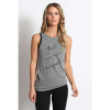 good hYOUman Women's Shaina Hi Neck Racerback Tank - Large - Heather / Girl You Are Unstoppable