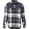 Marmot Men's Needle Peak Midweight Flannel LS Shirt - Medium - Black / Dark Steel