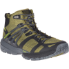 Merrell Men's MQM Ace Mid Waterproof Shoe - 15 - Olive / Lime
