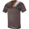 Alpine Stars Men's Alps 4.0 SS Jersey - Small - Melange Dark Gray / Teal / Red