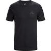 Arcteryx Men's Emblem SS T-Shirt - Medium - Black Heather