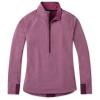 Smartwool Women's Merino Sport Fleece 1/2 Zip Pullover - Small - Sangria Heather