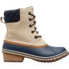 Sorel Women's Slimpack II Lace Boot - 9 - Oatmeal / Collegiate Navy