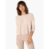 Beyond Yoga Women's Morning Lightweight Cropped Pullover - Large - Pink Quartz / Oatmeal