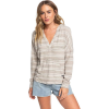 Roxy Women's Sweet Thing Heather Stripes Top - Large - Anthracite Heather Stripes