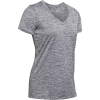 Under Armour Women's UA Tech Twist V-Neck Tee - Large - Pitch Grey / Metallic Silver