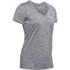 Under Armour Women's UA Tech Twist V-Neck Tee - Small - Pitch Grey / Metallic Silver