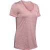 Under Armour Women's UA Tech Twist V-Neck Tee - Large - Hushed Pink / Metallic Silver