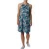 Columbia Women's Armadale II Halter Top Dress - Medium - Dolphin Feathery Leaves Print