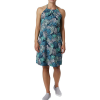 Columbia Women's Armadale II Halter Top Dress - Large - Dolphin Feathery Leaves Print
