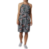 Columbia Women's Armadale II Halter Top Dress - Small - Black Feathery Leaves Print