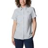 Columbia Women's Lo Drag SS Shirt - Large - Cirrus Grey