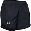 Under Armour Women's Fly By 2.0 3.5 Inch Short - Small - Black / Black / Reflective