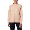 Columbia Women's Bryce Peak Perforated Full Zip Jacket - Large - Peach Cloud