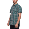 Black Diamond Men's Benchmark SS Shirt - Small - Raging Sea / Carbon / Birch Plaid