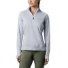 Columbia Women's Irico Half Zip Top - Medium - White / Cirrus Grey
