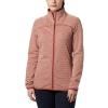 Columbia Women's Firwood Camp Striped Fleece Full Zip Jacket - Medium - Dusty Crimson