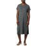 Columbia Women's Firwood Camp Tee Dress - Small - Black Medium Stripe